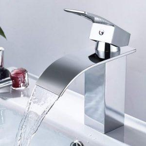 Amzdeal AZ017B montaje en pared, control de temperatura preciso, superficie cromada, fabricado en cobre Grifo monomando para ducha o ba/ñera
