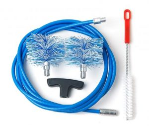 31cm Longitud 10 mm Di/ámetro de alambre de lat/ón Tubo de limpieza con cepillo de 10 PC