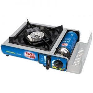 Hornillo gas posibilidad de usar gas butano o propano acero inoxidable Orbegozo FO 1700 quemador 4,3 KW