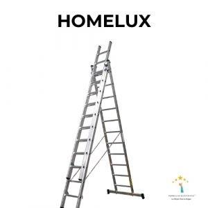 escalera de aluminio homelux
